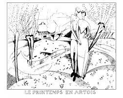 art deco spring artois by jean emile laboureur