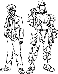 boy and samurai coloring page wecoloringpage