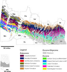 Geological Map Of Usa by Occurrence Of The Megatoothed Sharks Lamniformes Otodontidae In
