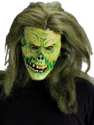 Zombie Mask Zombie Mask With Green Hair Partynutters Uk