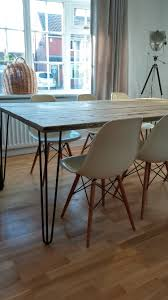 my own personal scaffold board hairpin leg table so easy to do