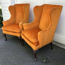 Hickory Chair Wing Chair Queen Anne Wingback Chairs By Hickory Chair A Pair Chairish