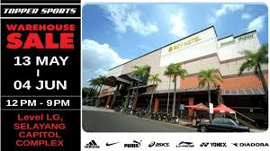 topper sport warehouse sale at selayang capitol complex