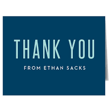personalized thank you cards bar mitzvah bat mitzvah thank you cards basic invite