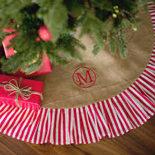 burlap tree skirt burlap with stripe tree skirt