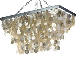 Capiz Shell Light Fixtures Capiz Chandeliers Seashells In Various Shapes And Size For Any Room