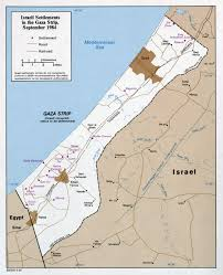 Map Of Isreal Large Detailed Map Of Israeli Settlements In The Gaza Strip