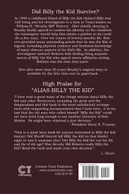 alias billy the kid the story of brushy bill roberts c l