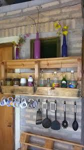 diy wall mounted pallet kitchen shelf kitchen shelves diy wall