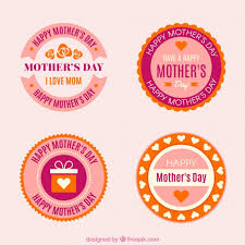 mothers day stickers set of s day stickers vector free