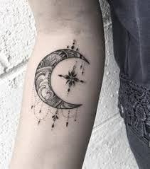 the half moon and crescent moon meaning tattoos i want