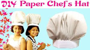 diy paper chef hat cook hat tutorial easy chef u0027s hat kids