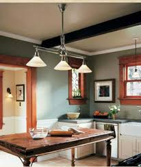 Energy Efficient Kitchen Lighting Kitchen Lighting Ideas With Rustic Wooden Table And Mint