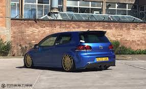 vw golf r on vossen vle1 custom finished to gold prestige wheel