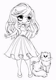 cute chibi coloring pages for your little girls coloring pages