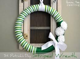 s day wreaths st s day striped wreath lemon tree dwelling