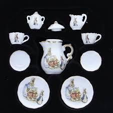 beatrix potter tea set beatrix potter rabbit 11 mini porcelain