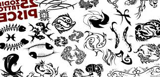 fresh zodiac sign pisces tattoo design photos pictures and