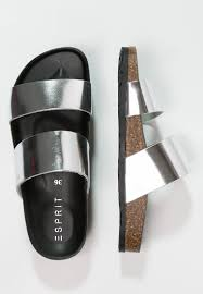 women mules u0026 clogs esprit anita sandals silver esprit decor