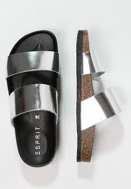 women mules u0026 clogs esprit anita sandals silver esprit decor