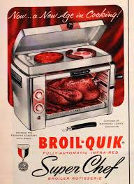 Vintage Toaster Oven 1954 Broil Quick Infra Red Oven Ad Retro Vintage Kitchen