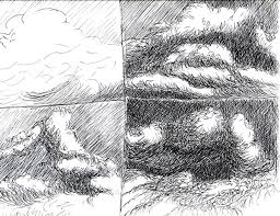 pen and ink drawings of clouds pen and ink drawings in progress