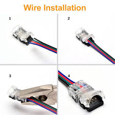 how to install led strip lights 10mm 4pin rgb rgbw led strip connector strip to wire connector for