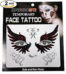 amazon com tinsley transfers lace face tattoo accessory