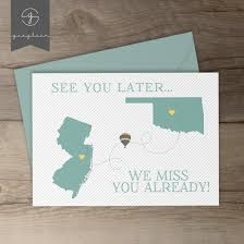 Invitation Card For Farewell Moving Away Gift Card Best Friend Moving Away Present