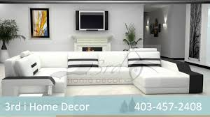 3rd i home decor leather sofas and sectionals nw calgary youtube