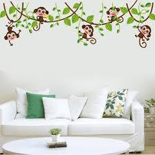 Tree Wall Mural by Carton Wall Sticker Decor Wallpaper The Monkey Climbing The Tree