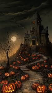 cute halloween background pack haunted house live wallpaper desktop wallpapersafari