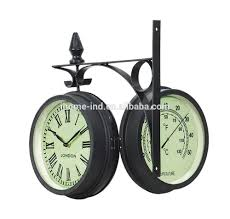 Decorative Clock Decorative Outdoor Clock Two Face Clock Hanging Double Side Wall