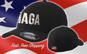 American Flag Flat Bill Hat Maga Hat Fitted Trump Hat Maga Letters Cap American Flag