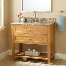 Bathroom Sinks And Cabinets Ideas by Bathroom Sink Vanity New Solid Bamboo Wood Corner Vessel Bathroom
