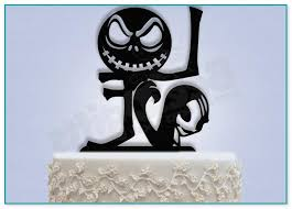 nightmare before christmas cake toppers nightmare before christmas wedding cake toppers