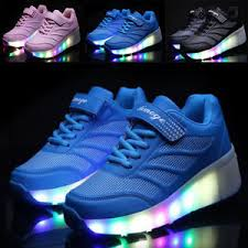 heelys light up shoes kids wheely shoes girls boys led light up heelys roller skate