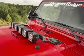 jeep light bar mount rugged ridge light bar hood mount with five 3