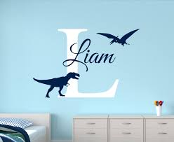 Personalized Nursery Wall Decals Customize Name Dinosaur Wall Decals For Boys Bedroom Room