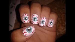 halloween eyeball nail tutorial youtube