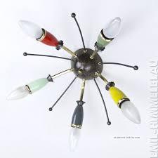 Wohnzimmerlampe 5 Flammig Design U0026 Stil 1950 1959 Lampen U0026 Leuchten Antiquitäten