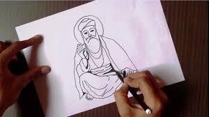 how to draw guru nanak ji drawing for kids guru nanak youtube