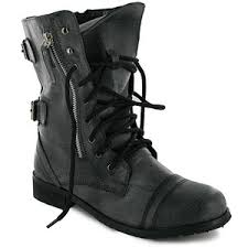 z43 womens black combat boots sizes 3 8 uk mi