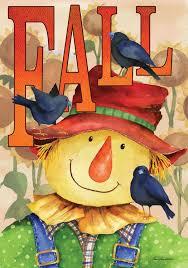 Fall Garden Flag Fall Scarecrow And Black Birds Garden Flag U2013 Kitty Kat Koutique
