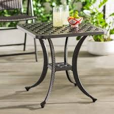 outdoor metal end tables outdoor side tables you ll love wayfair