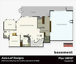ranch floor plan with basement plans ranch house plans with basement daylight