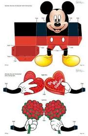 free minnie mouse printable favor box paper craft minnie mouse