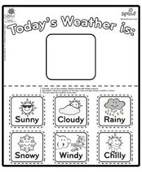 Kindergarten Weather Worksheets Weather Match Printable Weather Seasons For Preschool
