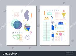 abstract templates different geometric shapes crystals stock