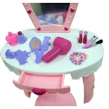 childs vanity table amazon com dimple dream dresser toy vanity set with flashing